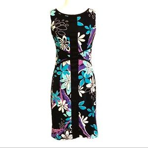 Signature by Sangria Sleeveless Floral Dress